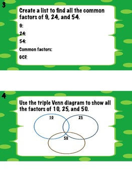 Math Stations: Factors and Primes (task cards)