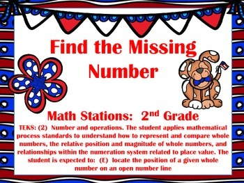 Math Station:  Find the Missing Number