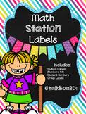 Math Station Labels