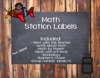 Math Station Labels