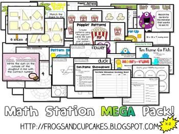 Math Station MEGA Pack! K-2