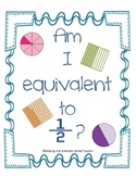 Math Station Mini-Book:  Am I Equivalent to 1/2?