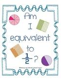 Math Station Mini-Book:  Am I Equivalent to 1/2?