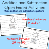 Addition and Subtraction Worksheets ENRICHMENT Activities Second Grade