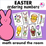 Math Station Ordering Numbers Easter Edition