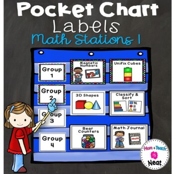 Math Station Pocket Chart Labels