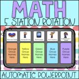 Math Station Rotation Automatic PowerPoint Chart