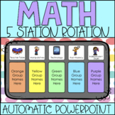Math Station Rotation Automatic PowerPoint