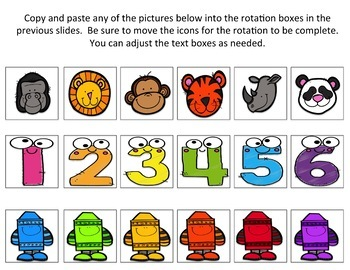 Math Station Rotation Board: Printable, Digital,  Editable