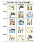 Math Station Rotation Chart