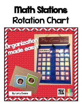 Math Station Rotation Chart Freebie