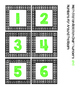 Math Station Rotation Chart Freebie- green