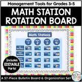 Math Station Rotation Chart and Math Stations Rotations Labels