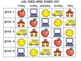 Math Station Rotation Chart and Planning Sheet