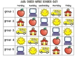 Math Station Rotation Chart and Planning Sheet