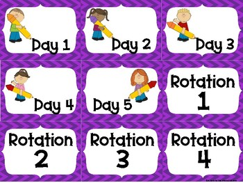 Math Station Rotation Labels