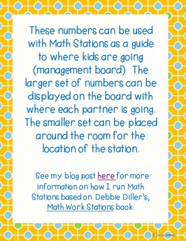 Math Stations Sign and Management Board