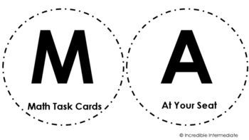 Math Station Signs