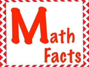 Math Station Signs - Chevron