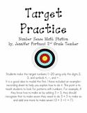 Math Station: Target Practice, Number Sense