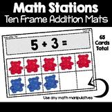 Math Station   Ten Frame Addition Task Cards