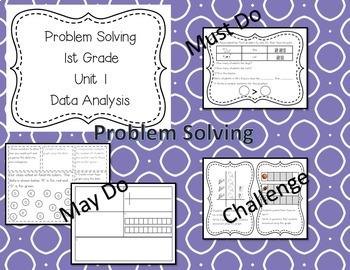 Math Stations 1st Grade Data Analysis