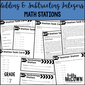 Middle School Math Stations: Adding & Subtracting Integers