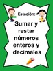 Math Stations: Addition, Subtraction, Multiplication & Division IN SPANISH