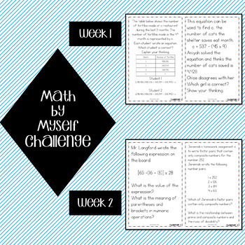 Math Stations Algebraic Reasoning