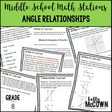 Middle School Math Stations: Angle Relationships in Parallel Lines and Triangles