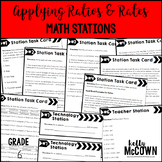Middle School Math Stations: Applying Rates & Ratios