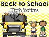 Math Stations Back to School Review