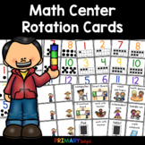 Math Center Rotation Cards {FREE}