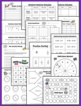 Math Stations | Math Centers with Editable Templates