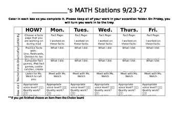 Math Stations Contract