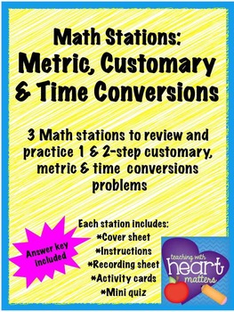 Math Stations: Conversions (task cards)