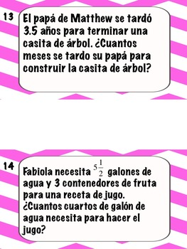 Math Stations: Conversions IN SPANISH/ EN ESPANOL