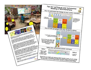 Math Stations - Dinosaur Themed automated powerpoint for small group math