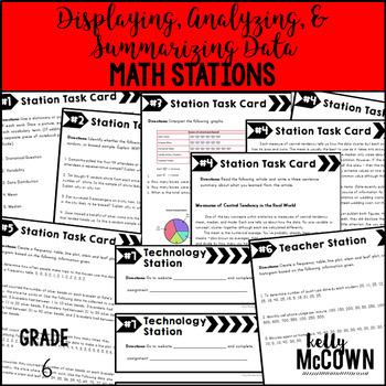 Math Stations: Displaying, Analyzing, and Summarizing Data