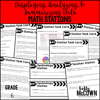 Middle School Math Stations: Displaying, Analyzing, and Su