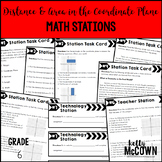 Middle School Math Stations: Distance and Area in the Coordinate Plane