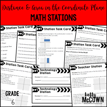 Math Stations: Distance and Area in the Coordinate Plane