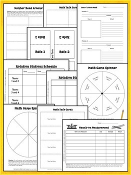 Math Stations Editable PowerPoint Templates