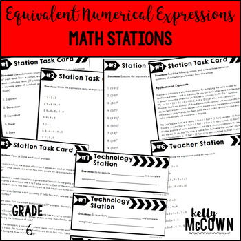 Math Stations: Equivalent Numerical Expressions