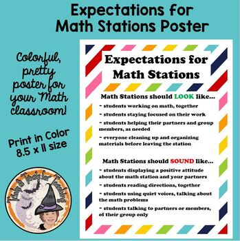 Math Stations Expectations for Math Centers Cooperative Groups