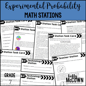 Experimental Probability Math Stations