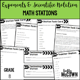Exponents and Scientific Notation Math Stations
