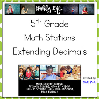Math Stations Extending Decimals