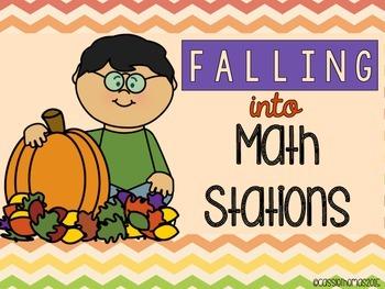 Math Stations - Fall Theme