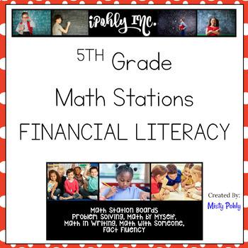 Math Stations Financial Literacy